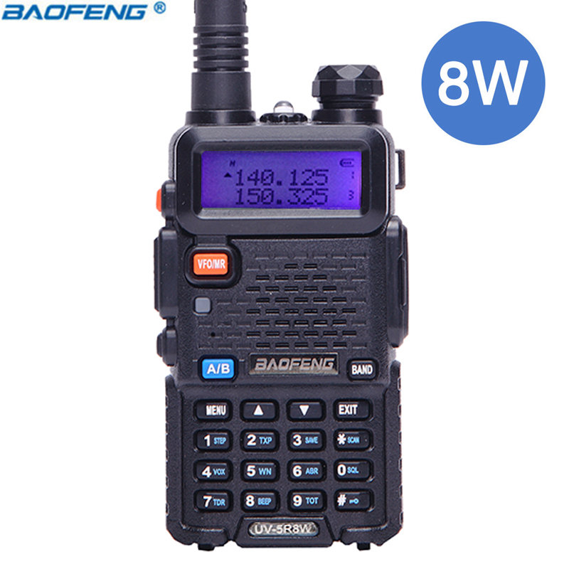 5x Baofeng UV-5RTP 8// 4 //1W Triple Power 2m//70cm Band VHF UHF Ham Radio Cable