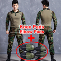 Military clothing german camouflage suit kryptek camo uniform emerson combat shirt pants pads acu tactical clothing for hunting