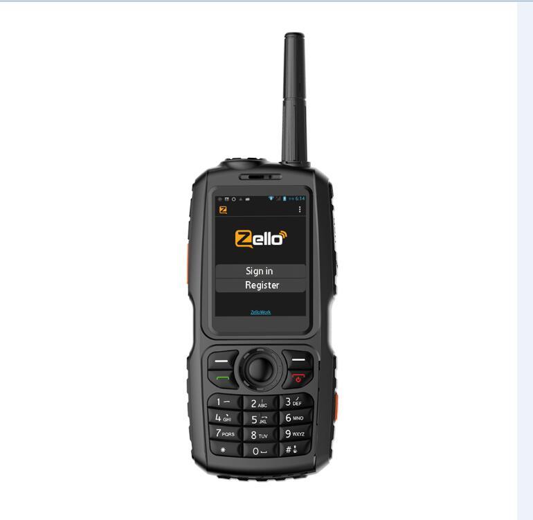 Mise à niveau pour A17 AndroidWCDMA/GSM 3G Radio & UHF 400-470MHZ téléphone portable PTT talkie-walkie Smartphone double SIM travail avec Zello A18