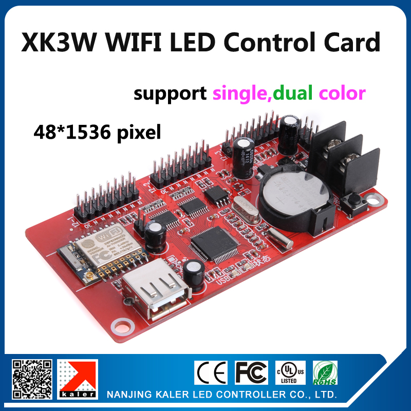kaler wifi led display controller card XK3W support 48x1536pixel p10 red blue green yellow white led