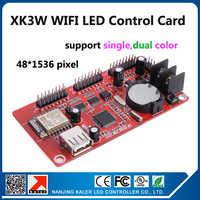 Kaler wifi led display controller card XK3W ondersteuning 48x1536 pixel p10 rood blauw groen geel wit led borden moving mesage