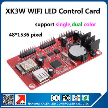 kaler wifi led display controller card XK3W support 48x1536pixel p10 red blue green yellow white led signs moving mesage