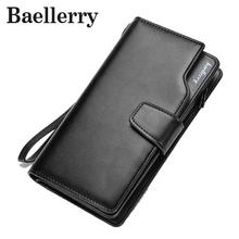 Baellerry Men Wallets New Design Men Purse Casual Wallet Clutch Bag Brand Leather Long Wallet Brand Hand Bag For Men Purse WL362(China)