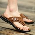 Hombres coreanos hombres zapatillas de verano chanclas chanclas playa resbalón zapatos de hombre para hombre casuales sandalias transpirable