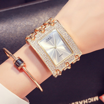 цена на G&D Luxury Brand Women Watch 2019 Gold Women Quartz Wristwatches Rhinestones Ladies Watches Relogio Feminino Relojes Mujer Clock