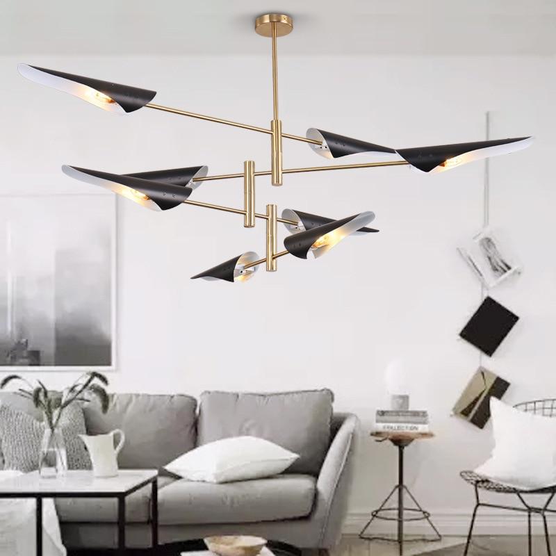 Moderni luster bijeli rotirajući privjesak svjetiljka LED Metal - Unutarnja rasvjeta