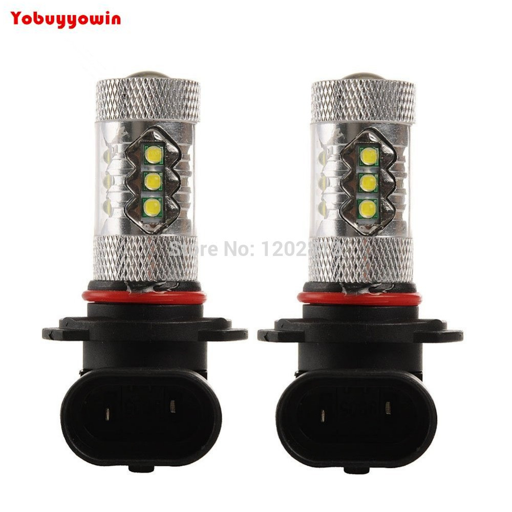 Free Shipping 2Pcs CREE Chips 80W 9005 HB3 <font><b>16</b></font> <font><b>LED</b></font> Car Light <font><b>Lamp</b></font> Bulb For <font><b>Fog</b></font> Tail Turn DRL Head White Driving/<font><b>Fog</b></font> Running <font><b>Lamp</b></font> image