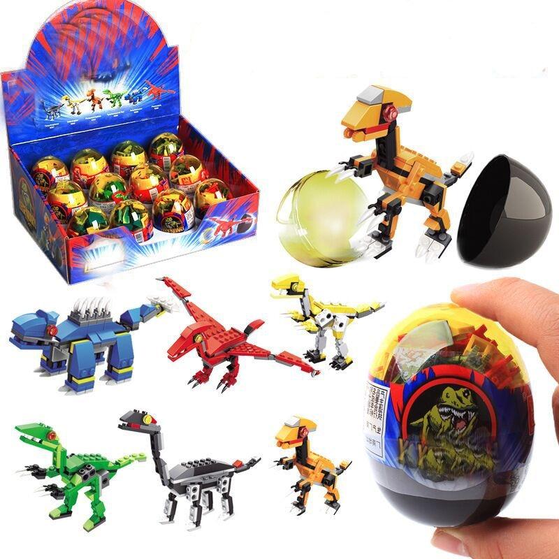 Legoings Jurassic Park Dinosaurs Tyrannosaurus Rex Mini Single Sale Kid Baby Sets Model Building Blocks Toys For Children BKX48