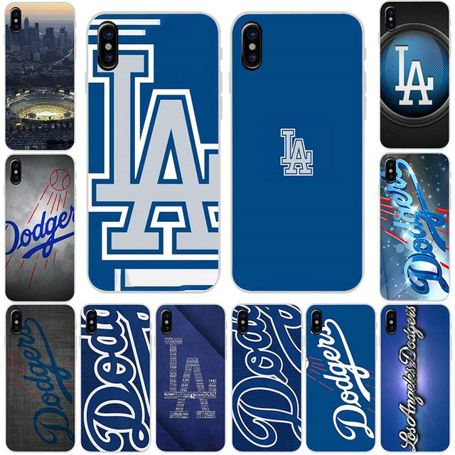Suave TPU Silicone Casos de Telefone Móvel para O Iphone 6 6 s 7 8 Plus X XR XS Max 5 5S SE 5C 4S 4 Coque Shell Hot Los Angeles La Dodgers