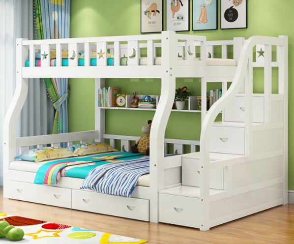 Hot Sale Kids Double Deck Bed Wooden Furniture Bunk Bed For Boy And