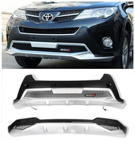 For TOYOTA RAV4 2013 2014 2015 Front+Rear Bumper Diffuser Guard skid plate Belt LED DRL High Quality Car Modification Accessorie