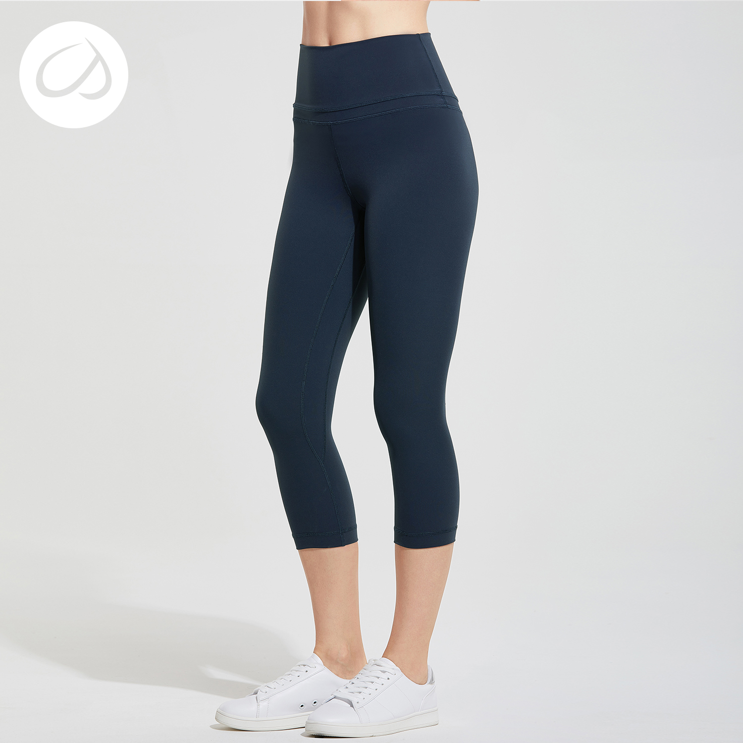 Crz Yoga Womens Naked Feeling High Waist Active Pants Cropped Tights Yoga Capri-In -9031