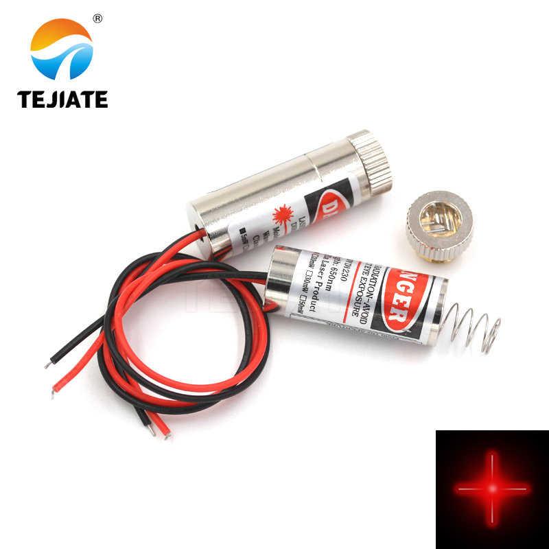 Tête laser diode laser 12mm 5mW 650nm point rouge/ligne/tube laser croisé module capteur laser infrarouge longueur focale réglable 3-5V
