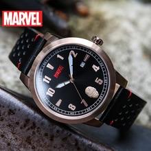 Disney OFFICIAL authorize original Marvel Avengers Iron man QUARTZ WATCH Waterproof  MEN Watches LEATHER Male Luxury M-9022 new