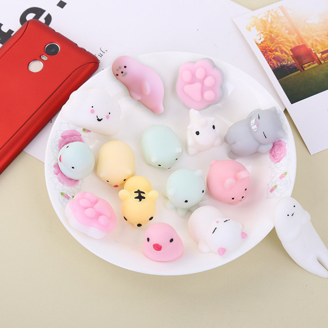 Kind-Hearted New Cute Small Pendant Bread Cake Kids Toy Mobile Phone Strapes Kawaii Mini Seal Soft Press Squishy Slow Rising Squeeze Stretchy Cellphones & Telecommunications Mobile Phone Accessories