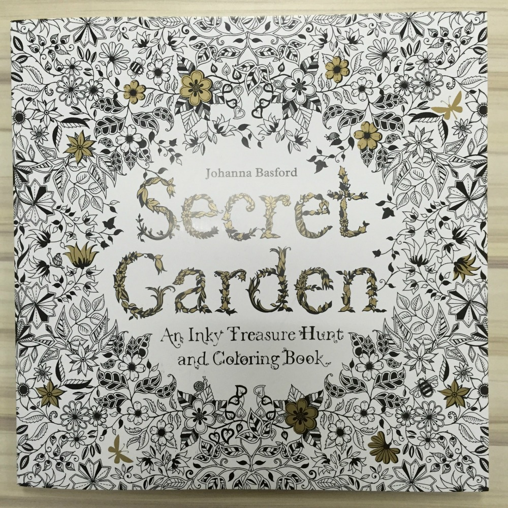 96 Pages Secret Garden Coloring Book For Adults Adult Kids Children Mandala Painting Books Colouring Antistress Quiet 25*25cm(China)