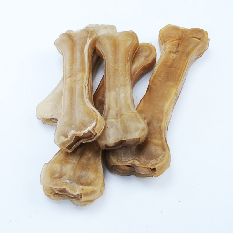 Cowhide Leather Pressing Bone Chews Teething Stick Snack Foods Treats Dogs Bones For Pet Dog Supplies Dog Toy