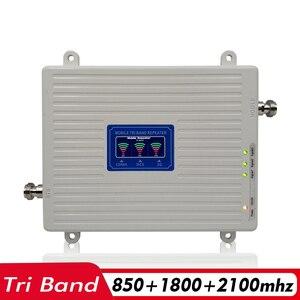 Image 2 - 2G 3G 4G tri band wzmacniacz sygnału CDMA 850 + DCS/LTE 1800 + WCDMA/UMTS 2100 wzmacniacz sygnału telefonii komórkowej wzmacniacz komórkowy antena zestaw
