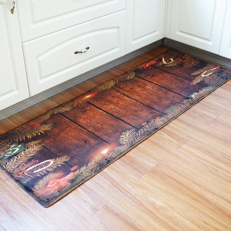 Nouveau commerce extérieur long 60*180 décoration de noël tapis antidérapant cuisine salle de bains hall tapis salle de bains tapis salle de bain tapis ensemble