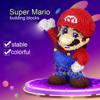 HC Diamond Mini Building Blocks Bricks Cartoon Red Super Mario DIY Block Classic Anime Friend Block Educational Toy for Children