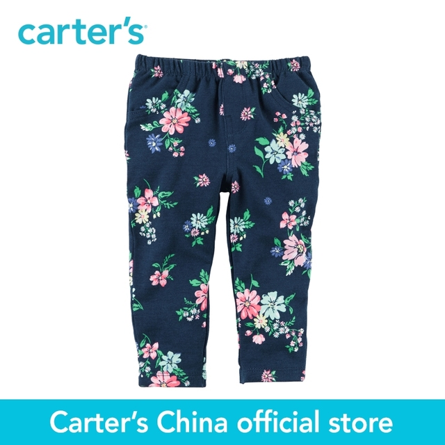 56564e594e66c Carter's 1pcs baby children kids Floral French Terry Pants 118H092,sold by  Carter's China official store