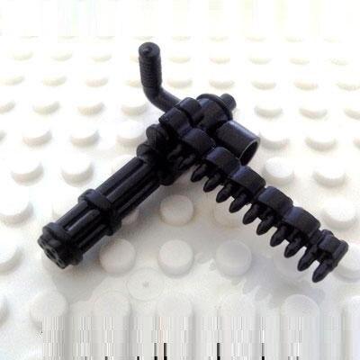 1 шт. Гатлин пулемет город пистолет оружие SWAT Полиция Военная Модель комплекты кирпичи Конструкторы оригинальные мини фигурки Игрушечные л... ...