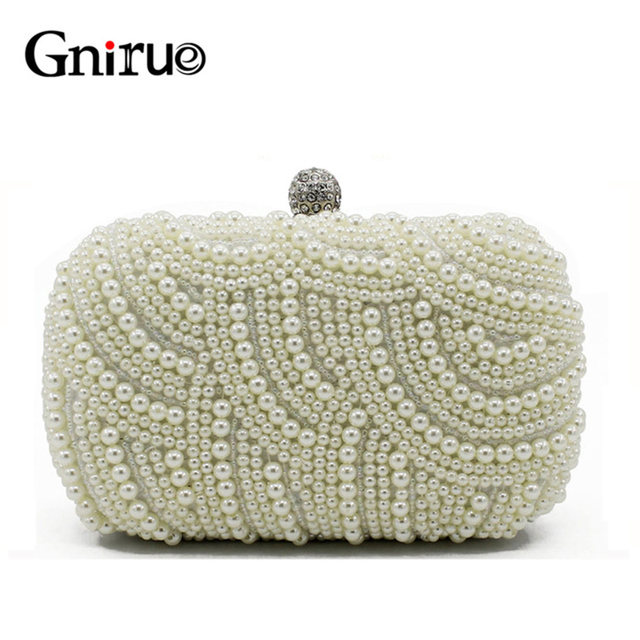 New Pearl Shell Women Shoulder bag Crystal Day Clutch Bags Diamond Beaded  Evening Clutch Bags for Party Wedding Handbags Purses ee532aada355