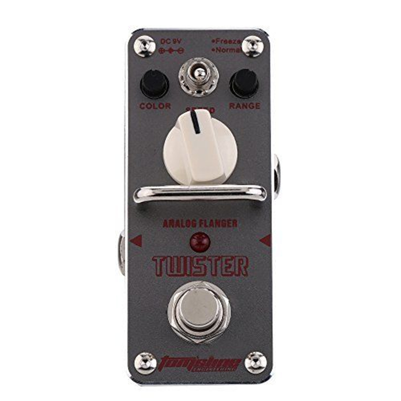 AROMA ATR-3 Guitar Effect Pedal Twister Analog Flanger Electric Guitar Effect Pedal Mini Single Effect with True Bypass aroma tom sline abr 3 mini booster electric guitar effect pedal with aluminum alloy housing true bypass durable guitar parts
