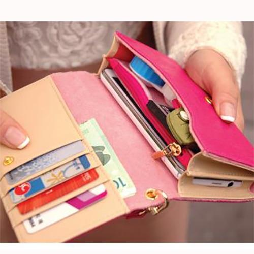New 2013 cheap womens leather wallets Multi purposes wristlet Smart Phone mini purses clutch organizer bag envelope Galaxy S3