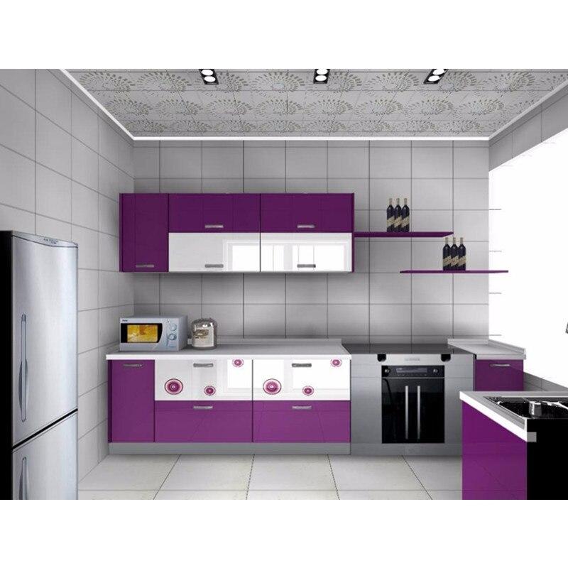 Modern Purple Kitchen Cabinet