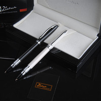 Picasso Pimio 83 Luxury Pure Black And Silver Clip 8K Metal Financial Fountain Pen With 0