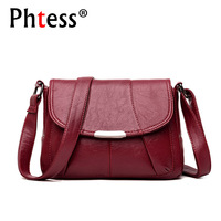 2018 Women Messenger Bags Small Leather Shoulder Bag Female Sac A Main Vintage Flap Ladies Bag