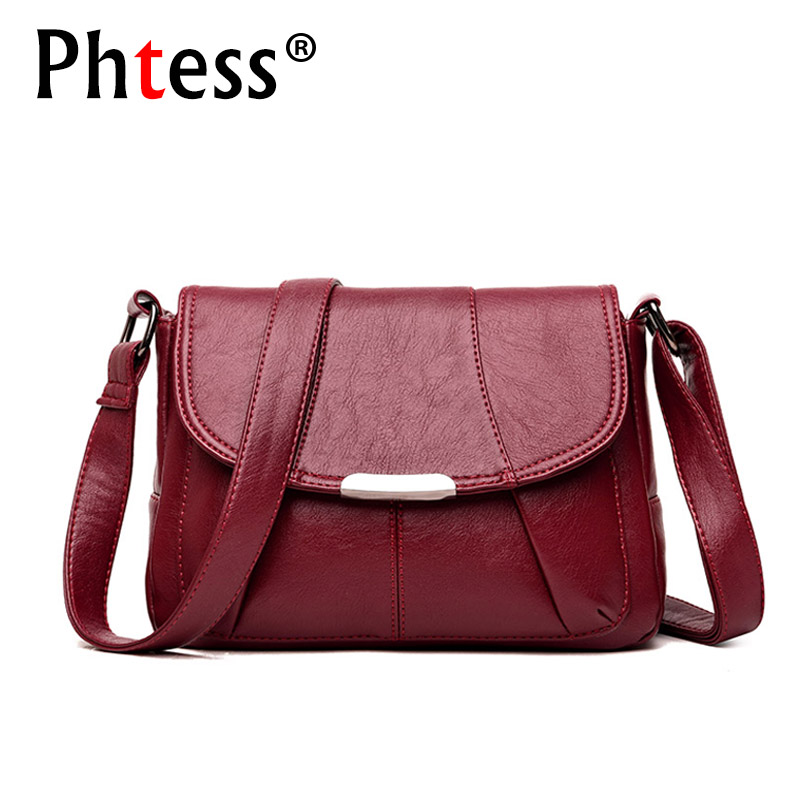 2018 Women Messenger Bags Small Leather Shoulder Bag Female Sac a Main Vintage Flap Ladies Bag Crossbody Bags For Women Bolsas
