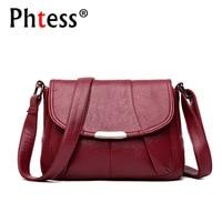 2018 Women Messenger Bags Small Leather Shoulder Bag Female Sac A Main Vintage Flap Ladies Bag
