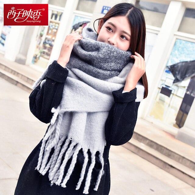 2018 зимний шарф шарфы женские кашемир платки мягкий шарф для женщин шерсти  пашмины зимы теплые Платки de7b66fb775