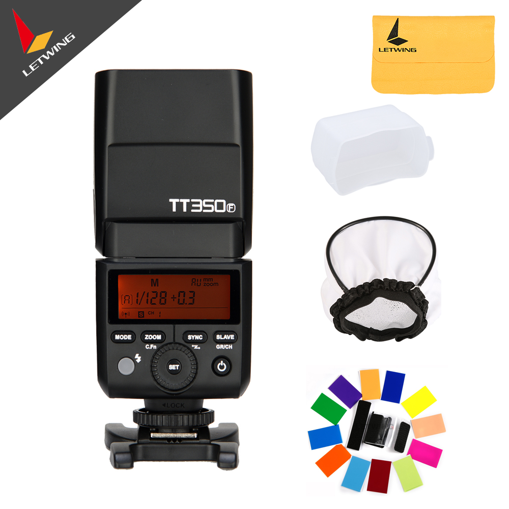 Godox Thinklite Mini Pocket Flash TTL TT350F Camera Flash High Speed 1/8000s GN36 for Fujifilm Digital Camera godox mini thinklite i ttl tt350n camera flash high speed 1 8000s gn36 for nikon digital camera