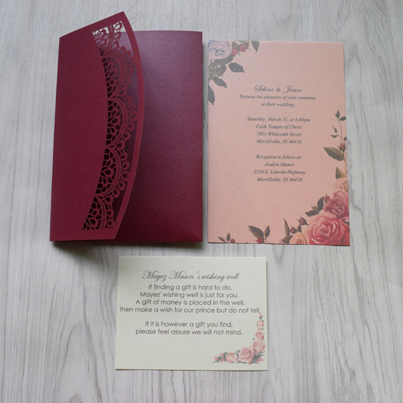 Detail Feedback Questions About Luxury Wedding Invitations Cards Baptism Laser Cut Birthday Dinner Party Invitation 50pcs RSVP Card On