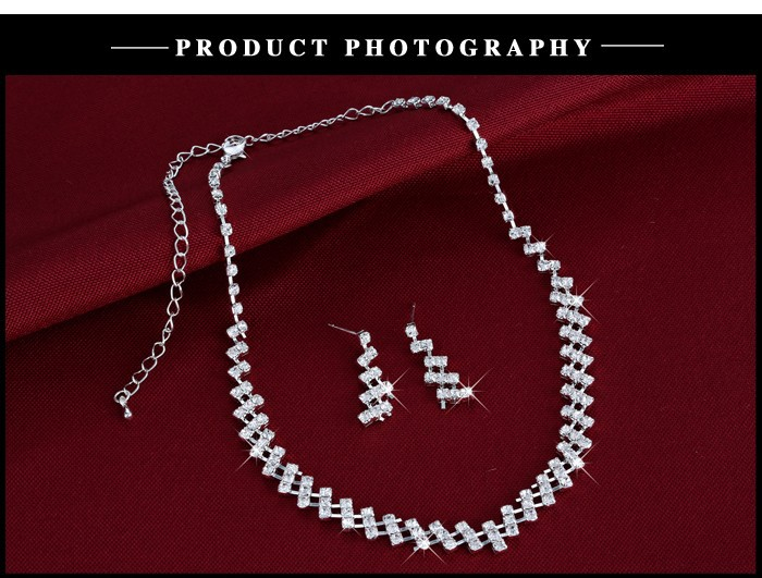 Wedding Jewelry Crystal Bridal Wedding Choker Necklace 8
