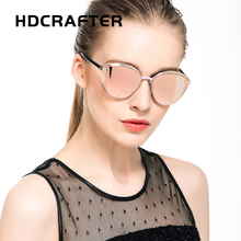 HDCRAFTER Cat Eye Sunglasses Women Brand Vintage Fashion Design For Female Luxury Sun Glasses Ladies Eyewear UV400