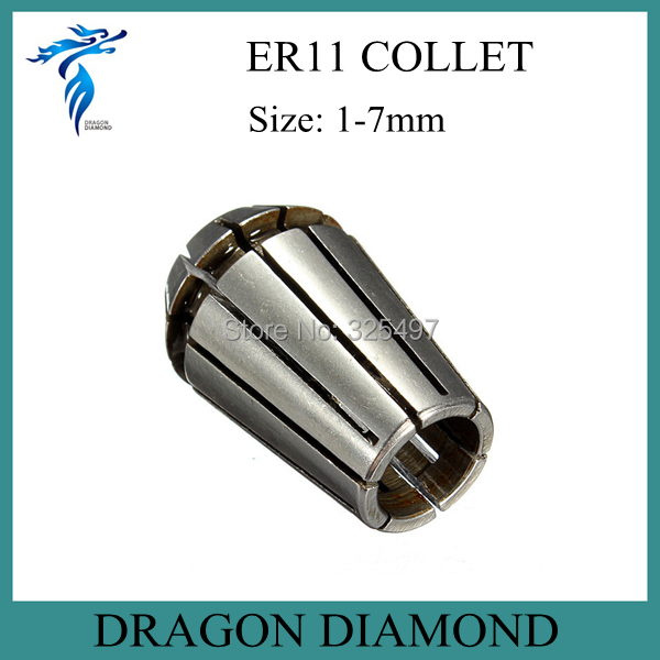 ФОТО Free Shipping 13pcs ER11 collet set 1 mm to 7 mm for CNC milling machine spindle motor