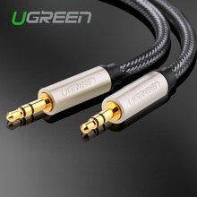 Audio Jack 3.5mm to Jack 3.5 AUX Cable Nylon Bradied Stereo Male to Male Auxiliary Cable for for iPhone Car Headphone