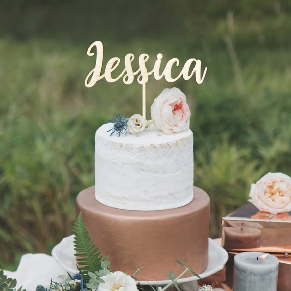 Custom Wooden Birthday Cake Topper Personalized Name Babys First Party Decorations