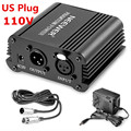 Neewer US Plug 110V 1-Channel 48V Phantom Power Supply+Adapter+XLR 3 Pin Mic Cable for Condenser Microphone Recording 8 Feet