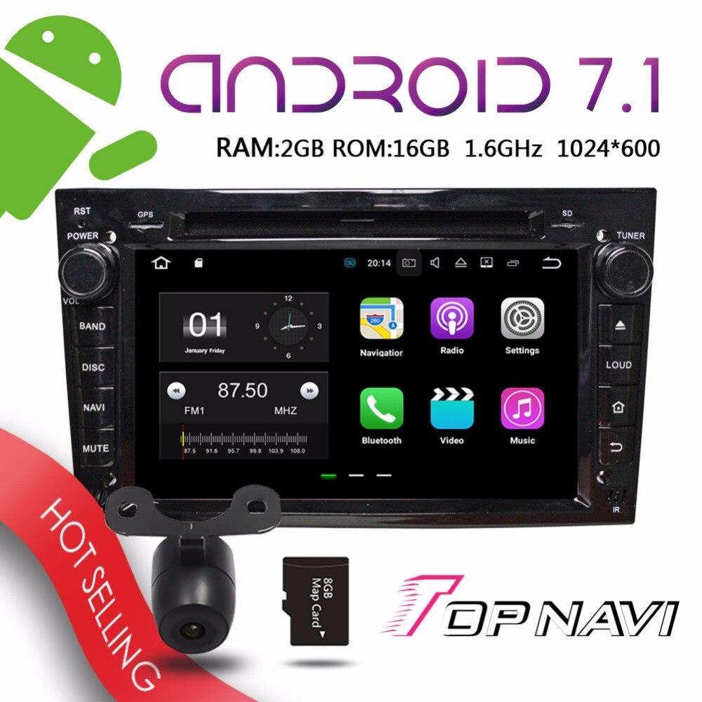 TOPNAVI 7 Android 7 1 Vehicle PC for Opel Vectra Antara Zafira Corsa Meriva Astra Car