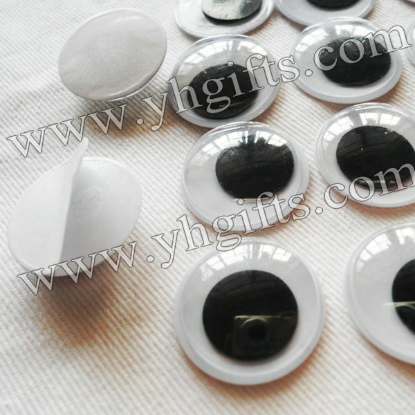 1000PCS/LOT,2cm eye stickers,Plastic eyeball with self-adhesive sticker,Plastic wiggle eyes,Doll eyes,Craft material.Wholesale
