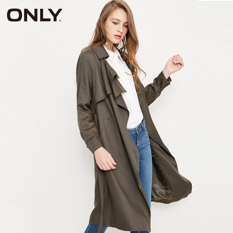 Vero Moda Women new long thin   trench   coat lapels collar | 318121504