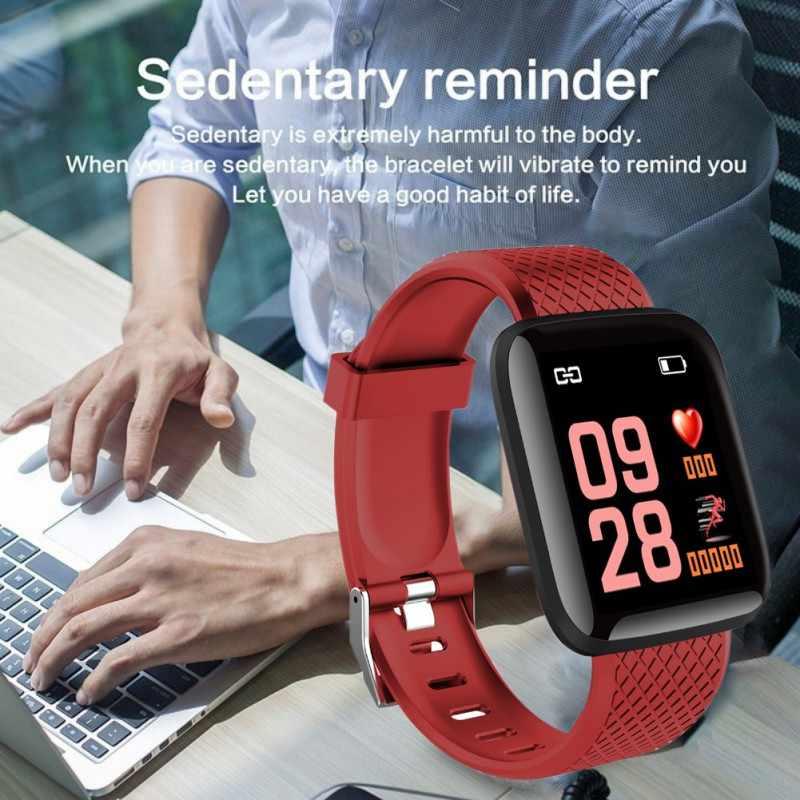 ホット 116 プラススマートブレスレット血圧防水フィットネストラッカー腕時計心拍数モニター歩数計スマートバンド女性男性