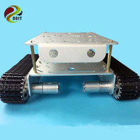 TD200 Double Caterpillar Heavy Metal Tank Chassis Robot Model Intelligent Car Electronic Contest