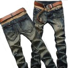 2015 Высокое качество asual мужские джинсы известных брендов джинсы мужчин брюки рваные джинсы для мужчин дизайнерские джинсы