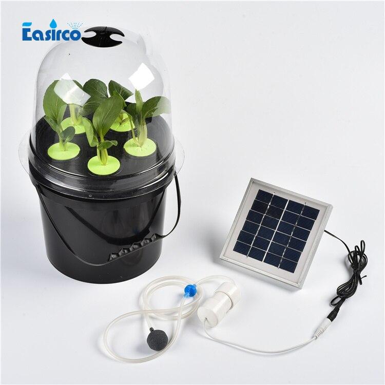Solaire pompe à air clone seau pour la culture hydroponique système